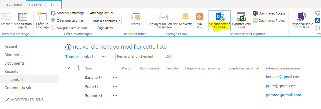 SharePoint - Connect to Outlook