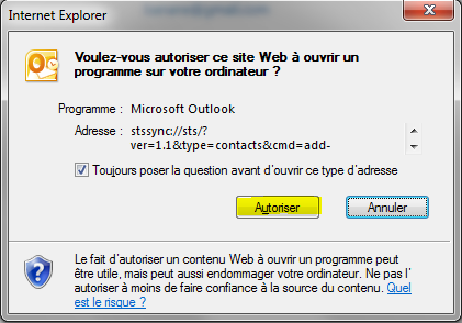 Internet Explorer - pop-up